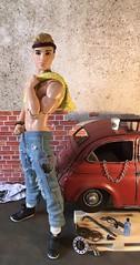 Grease Monkey (MaxxieJames) Tags: bastian hunter ken barbie doll dolls mattel made move fashion fashionista mechanic garage car