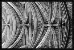 Hole in One (Ilan Shacham) Tags: abstract architecture cathedral ceiling pattern motion flow texture brick line shape form fineart fineartphotography bw blackandwhite bordeaux france