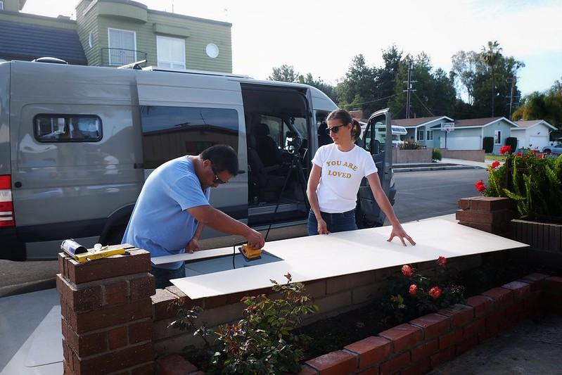 Sprinter Van Build Day 16 042418