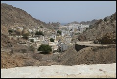 Old city with Sultans Palace, Muscat, Oman (henrik.schwarz) Tags: oman muscat palace old city panorama