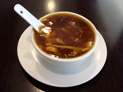 Hot and Sour Soup (knightbefore_99) Tags: chinese art asian food work lunch best chongqing kingsway vancouver burnaby tasty soup hot sour bowl pork brown