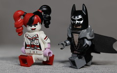 Heavy Metal Batman chasing Vampira Harley Quinn (N.the.Kudzu) Tags: tabletop lego minifigures harleyquinn batman manualfocus primelens canondslr lensbabyvelvet56 macro