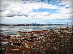 Lisbon from the castle (eldaddio) Tags: são jorge castle lisboa lisbon omd olympus 20mmf17 sãojorgecastle em10mkiii