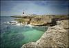 Waters of Portland Bill (jimj0will) Tags: portlandbill dorset weymouth lighthouse sea ocean waves water rocks cliffs bluesky tower red white