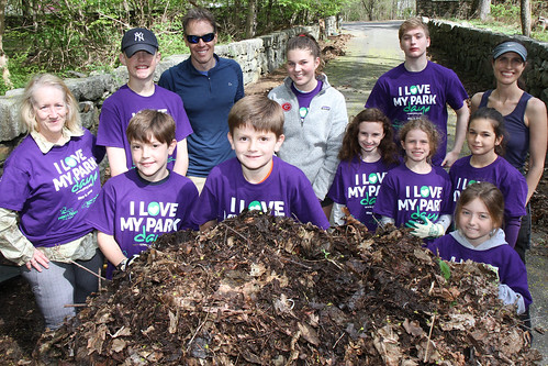 I Love My Park Day - Volunteers Rake Leaves and Create Compost Pile