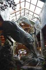 Behind The Dream Buck Statue (Adventurer Dustin Holmes) Tags: 2018 wondersofwildlife museum springfieldmissouri statue dreambuck springfieldmo bassproshops basspro outdoorworld tourism touristattractions