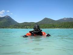 Tauchen am Walchensee (CZDiver) Tags: scubagear scubadiving doublehosescubaregulator drysuitdiving scubadiver scuba divinggear northerndiverdrysuit thordrysuit aqualungmistral