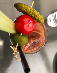 Bloody Mary at Eveleigh - - West Hollywood, California (ChrisGoldNY) Tags: chrisgold chrisgoldny chrisgoldphoto chrisgoldberg losangeles la california westcoast cali socal iphone licensing bookcovers albumcovers forsale food foodporn comida restaurants eater meals delicious yummy tomatoes pickles olives celery bloodymary drinks alcohol westhollywood weho cherry challengewinners challengefactory