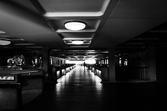 One and Only (Solène.CB) Tags: bw black white nb noir blanc light lumière darkness obscurité she conceptual elle one only solènecb barbican london londres