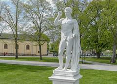 Marble sculpture, Drottningholm, Stockholm (Gösta Knochenhauer) Tags: 2015 may drottningholm castle stockholm ekerö sweden sverige panasonic lumix fz1000 p1010180nik p1010180 nik nude naked sculpture art plastik male man