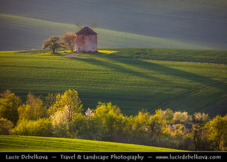Czech Republic - South Moravia - Iconic rolling fields - Kunkovice Wind Mill