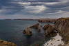 So windy up on the cliff top, but the sea was dead calm (sarahOphoto) Tags: scotland unitedkingdom gb lewis isle outer hebrides landsca seascape nature sea water rocks stacks mangersta cliffs beach coast united kingdom canon 6d clouds sky moody