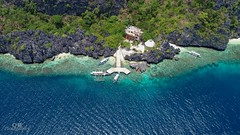 Matinoc Shrine (Chrisdevillio) Tags: holidays landscape seaside fromabove cloudy turquiousewater tourc turquiouse drone philippines holiday sea bluesky sun birdview beach elnido islandhopping exploration viewfromabove dronepicture wave matinocshrine green chbphotography nature islandhoppingtourc walk mimaropa philippinen ph
