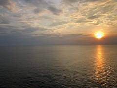 Sunset asail (BiggestWoo) Tags: humid moist wet water waves clouds sun evening cruise seas ovation caribbean royal rci malacca straits indian sea ocean sunset