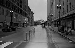Not Part Of The $42 MIllion Loop Link.jpg (Milosh Kosanovich) Tags: silverfast fujimicrofine11 washingtonstreet bwfilm empty chicagophotographicart epsonv750pro pritzkerpavillion nikonf100 miloshkosanovich chicago looplink chicagophotoart kodakdoublex5222 chicagophotographicartscom rainyday mickchgo