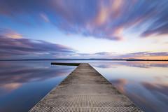 Yesterday's sunset over Marine Lake in West Kirby (Lukasz Lukomski) Tags: westkirby wirral merseyside nikond7200 lukaszlukomski longexposure landscape reflection sunset uk great britain england anglia wielkabrytania odbicie