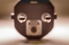 Surprised plug (kaifr) Tags: plug blur macro powerplug closeup surprised cee77plug plugsandjacks macromondays pareidolia