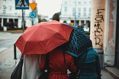 huddle (ewitsoe) Tags: atmosphere canon city eos6dii ewitsoe rain spring street warszawa erikwitsoe poland streetphotography urban warsaw postcardsfrompoland series ladies umbreall parasol streetscene life raining polska citystreets