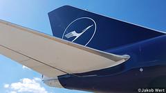 Lufthansa Boeing 747-8i (jakobwert) Tags: airplane aircraft airport ber sxf berlinbrandenburg ila ilaberlin airshow airline airplanes aviation avgeek airlines jet ila2018 berlin lufthansa boeing 747 7478 tail