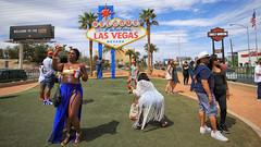 Welcome to Fabulous Las Vegas (dorameulman) Tags: lasvegas nevada lasvegassign selfie candid streetshot streetscape streetscene color people haiku canon7dmark11 canon dorameulman