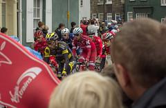Cyclists (barronr) Tags: england knaresborough rkabworks tourdeyorkshire yorkshire bathgatephotographer cycling cyclists male man men peloton race