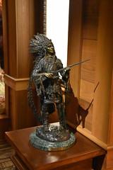 Native American Statue (Adventurer Dustin Holmes) Tags: 2018 wondersofwildlife museum exhibit display statue nativeamerican chief westernart art