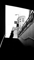 born out (simone.pelatti) Tags: bw black white stairs underground curiosity emersion contrast