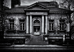 Yorkville Public Library Toronto Canada (thelearningcurvedotca) Tags: briancarson canada canadian ontario thelearningcurvephotography toronto yorkville architecture background blackandwhite bnw brick building city columns concept construction design door doorway downtown entrance environment exterior famous foto geometric glass heritageproperty landmark library light lines monochrome outdoors pattern perspective photo photograph photography shape stone street structure texture urban absolutearchitecture awardflickrbest bwartaward bwmaniacv2 bej blackwhitephotos blackandwhiteonly blogtophoto bwemotions cans2s discoveryphotos iamcanadian linescurves noiretblanc torontoist true2bw yourphototips