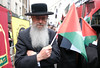 Compassion and solidarity - A Jewish man with a Palestinian flag. (alisdare1) Tags: palestine palestinesolidarity gaza westbank demonstration rally london israeliembassy israeliapartheid theoccupation humanrights israel idf jewishman palestinianflag