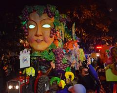 """Comus"" - Proteus Float #20 (BKHagar *Kim*) Tags: bkhagar mardigras neworleans nola la parade celebration people crowd beads outdoor street napoleon uptown night proteus kreweofproteus float float20 comus"