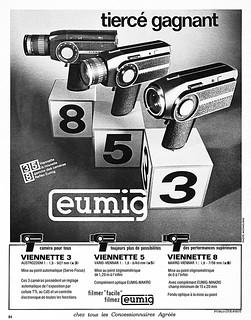 Eumig movie cameras advertisement.