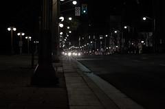 the Dark of the night (LynxDaemon) Tags: ottawa night lights street bus cars headlights lampadaire streetlights