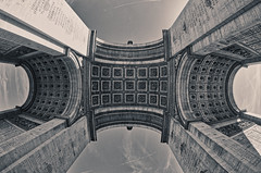 Arc Triomphe UpShot (Yoalad) Tags: architecture architectural arches paris france