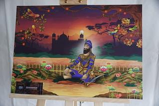 Guru Gobind Singh Ji - Africa, Vik Kainth, Sikh Art Exhibition, Vaisakhi Celebration, Trafalgar Square, Westminster, London