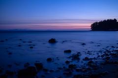 Sunset at Jordan River (Joel Apple) Tags: longexposure pacificnorthwest calm sunset northamerica mountains colors jordanriver nightphotography canada things britishcolumbia places vancouverisland