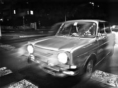 Old Car New Road (Ori Liber) Tags: street transportation traffic urban nightshot night road antique artistic vehicle blackandwhite old oldcar car city