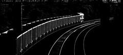 66197 (Peter Leigh50) Tags: train railway rural railroad rail line lines light dark blackandwhite black white bw monochrome mono freight
