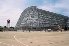 Moffett Field Hangar One (poavsek) Tags: airship blimp macon uss dirigible navy kodak ektar film hangar