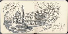 Monumento a Cánovas. (f.gómezcorisco) Tags: rotulador airelibre castejao urbansketchers cuaderno apunte boceto dibujo madrid españa arquitectura