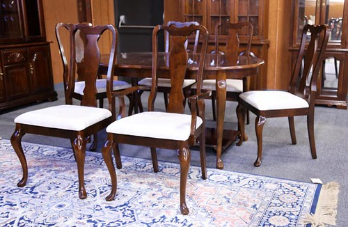 Cherry Extension Table w/ 8 Chairs ($476.00)