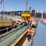 Final pile cap on passenger-only ferry dock thumbnail