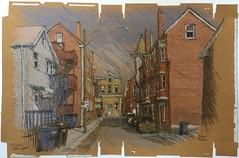 Pilsen, Chicago (Peter Rush - drawings) Tags: peterrush drawing sketch pilsen chicago