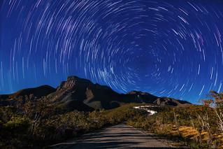 Full Wolf Moon Star Trails - Bluff Knoll, Western Australia