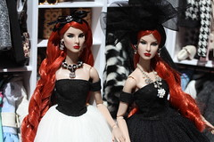 Mogul Sisters (Isabelle from Paris) Tags: fashion royalty sisters moguls agnes giselle reroot ooak isabelleparisjewels doll jewelry
