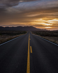 Fire in the sky (Kyle French) Tags: highway road sunset landscape arizona az highways