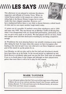 Bath City vs Crawley Town - 1989 - Page 5