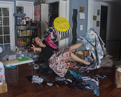 Day 4117 (evaxebra) Tags: falling airborne laundry basket dirty clothes blackmilk slip funny