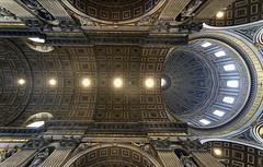 Vault and Dome (albireo 2006) Tags: rome roma italia italy vatican vaticano dome vault stpetersbasilica st petersst peter