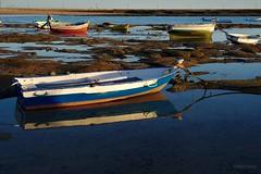 La Caleta (rmtron) Tags: sunset boat reflection spain cadiz andalucia lacaleta ocean beach barco españa atlanticocean