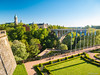 Luxembourg City (✦ Erdinc Ulas Photography ✦) Tags: luxembourg city park grass trees tree landscape landmark wall stone path bench plants flag europe european pole tower view travel bridge building panasonic focus luxemburg centre adolphe gorges center casemate bock arch